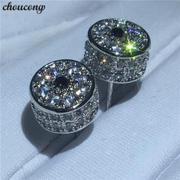 2019 jóia em forma de coroa Choucong Lady Crown Forma brincos de Cristal de Diamante Branco de Ouro Cheia Festa de Casamento Do Parafuso Prisioneiro Brincos para as mulheres da moda jóias desconto jóia em forma de coroa