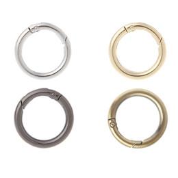 2019 круг застежки крючки 1Bag 5Pcs Round Ring Circle Spring Snap For DIY Keyring Hook Bag Buckle Handbag Purse Metal Clasp скидка круг застежки крючки