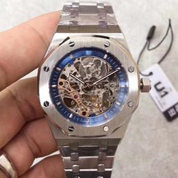 U1 di alta qualità Royal Automatic Hollows Out quadrante vetro zaffiro quadrante 43 MM cassa in acciaio inossidabile 316 Sport da uomo per il tempo libero regalo Mens Cool Watch cheap cool automatic watches da orologi automatici freddi fornitori