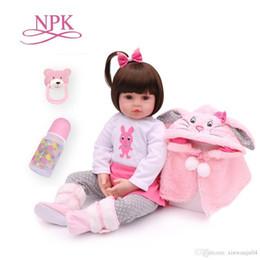 roupas de plástico para meninas Desconto Presentes NPK 47CM Silicone Renascer Super Baby Lifelike Criança Bebê Bonecas Kid boneca Bebes Renascer Brinquedos Renascer brinquedos para as crianças
