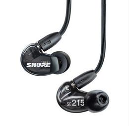 ecouteurs apple boite cristal Promotion SE215 écouteurs de téléphone portable dans l'oreille avec fil universel HIFI moniteur écouteurs Subwoofer musique dynamique annulation de bruit