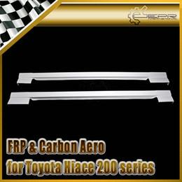 toyota de fibra Desconto Estilo do carro para Toyota Hiace 200 series JD Style FRP Fiber Glass Side Side
