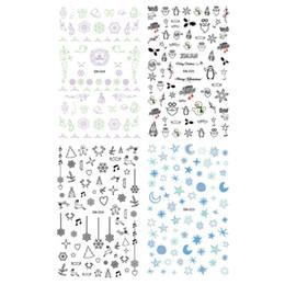 Prego harajuku on-line-Luminosa Série New 2018 Nail Art Stickers Dicas Decoração Unhas Wraps Harajuku Feliz Natal Adesivos
