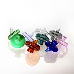Bulles d'eau en verre en Ligne-Verre coloré Carb Cap pour dabber Bubble Carb Caps pour biseauté bord Quartz Banger ongles verre eau Bangs Dab huile Rigs fumer Accessoires