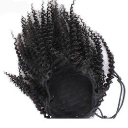 cabelos loiros curtos naturais da trama Desconto Raw Virgin Cavalinha cutícula Alinhados profunda da onda do corpo não transformados Cabelo Humano Natural Afro Kinky em linha reta Curly com cordão de-cavalo