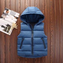 muchachos del chaleco de navidad Rebajas 2018 Chaleco niños adolescentes muchachas grandes Otoño Invierno Primavera gruesas muchachos de las niñas del chaleco de la Navidad del niño chalecos con capucha de la chaqueta de 3-12years