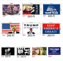 2019 decorazione stradale 10 colori Donald Trump 2020 Flags Make America Great Again Flag US Bandiere Candidati President Courtyard garden Street decor 90 * 150 A5702 sconti decorazione stradale