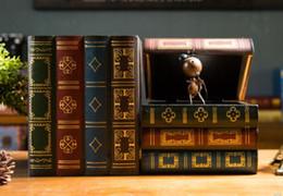 Argentina Retro industrial viento caja de almacenamiento de madera engrosamiento de plástico acabado caja de almacenamiento sala de estar dormitorio escritorio caja de libro decoraciones cheap popular desktop Suministro
