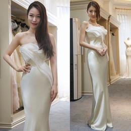 ligne de robe mère enfant Promotion Le style long de la mariée printemps 2019 nouvelle robe de soirée bustier banquet élégant, slim et slim