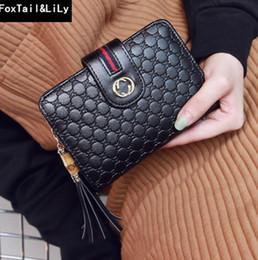 Multi tarjeta de billetera mujeres online-Cartera de mujer Versión coreana de salchicha de bambú monedero fábrica ventas directas de la marca billetera moda multi-tarjeta de cuero de diamante Carteras cortas