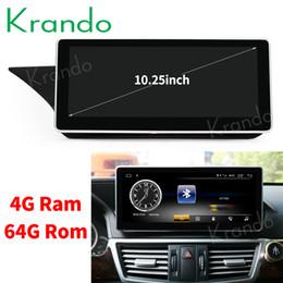 Dvd de navegação de carro on-line-Krando Android 8.1 10.25 'rádio de carro dvd de navegação para Benz E Classe W212 S212 2009-2016 jogador multimídia GPS BT carro dvd