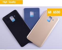 2019 batteries pour alcatel Pour Samsung Galaxy A8 2018 A530 SM-A530N Coque Arrière Batterie Coque Samsung A8 2018 A530F Verre 3D Couvercle Arrière Remplacement