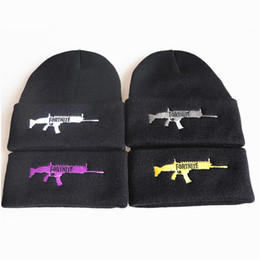 Fortnite Battle Knitted Caps Hip Hop Embroidered Skuilles Beanies knitting  mens hats winter warm ski hat rainbow Horse cap for girls boys 321432dd5a2e