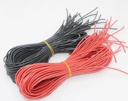 20mètre / lot Fil de silicone de haute qualité 10 12 14 16 16 20 20 24 24 AWG 10 m, couleur rouge et 10 m, couleur noire ? partir de fabricateur