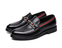 Canada 2019 Hommes Chaussures De Luxe Marque En Cuir Véritable Casual Conduite Oxford Oxfords Chaussures Hommes Mocassins Chaussures Pour Hommes TAILLE 38-44 cheap leather casual shoes for driving Offre