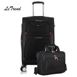 деловые сумки для багажа Скидка Letrend Rolling Luggage Set Spinner Многофункциональные чемоданы на колесиках Колесо для путешествий Duffle Бизнес сумка для ноутбука Сумочка Коробка для пароля