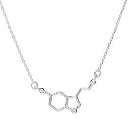 2019 fórmulas químicas 1 colar de química molecular estrutura molecular colar fórmula química 5-HT jóias geométrica enfermeira requintada jóias simples jóias desconto fórmulas químicas