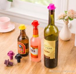 Chapéus de cerveja on-line-Food Grade Silicone Wine Bowler rolha de garrafa de Champagne plug Hat pequeno cerveja vinho tinto Garrafa Bar Acessórios