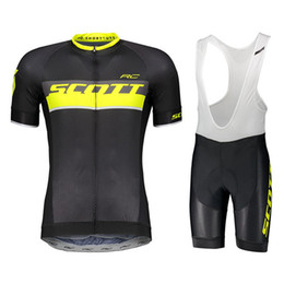 mtb gears Promo Codes - 2019 SCOTT Pro team Cycling jersey bib shorts sets New arrivals MTB Bike Jersey Bicycle Wear breathable Men Cycling Gear Sportswear H1001