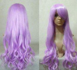 2019 длинный светло-фиолетовый парик WBY Women LIGHT PINK PURPLE длинные волнистые аниме косплей вечеринка для женщин парики быстро доставить дешево длинный светло-фиолетовый парик
