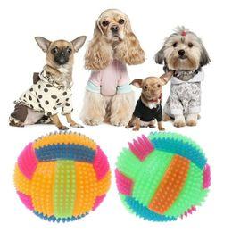 Cachorros de brinquedo de plástico para crianças on-line-Engraçado Bouncy Ball LED Luz Plástico Hedgehog Saltando Crianças Pet Dog Fun Toy Cor Aleatória