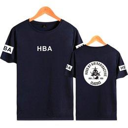 Оптовая повседневная дизайнер футболка с коротким рукавом западное побережье панк-узор 65% хлопок тонкий материал футболка снисходительность лето легкая одежда для отдыха от