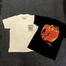 Pommes appliques en Ligne-19ss Travis Scott Astroworld Tour Vegas T Shirt Hommes Femmes Flame Apple Streetwear Eté T-shirt Harajuku ASTROWORLD T-shirt