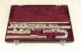 2019 flöten fall Jupiter JFL-5011E C Tune Flöte 16 Keys Löcher Geschlossene Flöte Silber plattiert Flauta mit Etui und kleinen gebogenen Köpfen Marke Musikinstrument rabatt flöten fall