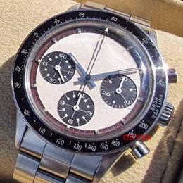 Relógio cronógrafo vintage vintage on-line-Luxo Vintage Perpétuo Paul Newman Japonês Quartz Chronograph Aço Inoxidável Mens Watch Designer de homens Relógios Relógios De Pulso
