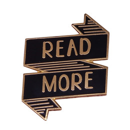 Read More Book Lapel Pin Positive Quotes Banner Brooch Literary Bookworm Badge Gift For Librarian Teacher