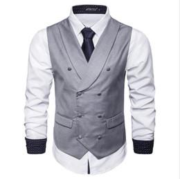 britische mode männer weste Rabatt Modelle Herbst neue Männer einfarbig Weste Business Casual Weste britische Mode Hot Fit für Mann Weste Free Ship Business Party