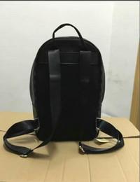 рюкзак из коричневого pu кожи Скидка Мода высокое качество новый роскошный известный бренд рюкзаки черный коричневый женщины мужчины сумки женский искусственная кожа дамы дорожная сумка рюкзак N41612