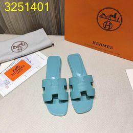 Sandales plates pantoufles pour les filles en Ligne-femme designer oran sandales en cuir mule filles rue mode bout ouvert pantoufles tongs taille euro 35-42