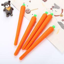 Водные базовые ручки онлайн-2019 новая новинка симпатичные морковь шариковая ручка морковь на водной основе ручка черные чернила 0.5 мм пополнения Корейский персонализированные подпись DHL доставка