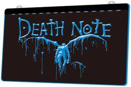Неоновые ноты онлайн-LS978-b-Death-Note-Notebook-Cosplay-Neon-Light-Sign.jpg Декор Бесплатная доставка Dropshipping Оптовая 8 цветов на выбор