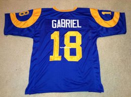 2fed4f407 Cheap Retro custom Sewn Stitched  18 Roman Gabriel Blue MITCHELL   NESS  Jersey High-end Men s Football Jerseys College NCAA inexpensive cheap  college shorts