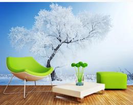 mural branco Desconto papel de parede moderno para sala de estar Branca neve floresta papéis de parede TV fundo parede paisagem mural
