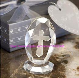 erster stand Rabatt 50 stücke Kristall Kreuz Stehen Stehen Baby Taufe Favor Geschenk bBaby Shower Erstkommunion Hochzeit Gefälligkeiten und Geschenken