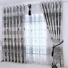 Nouvelles fenêtres en direct en Ligne-1 pc 2019 Nouveaux rideaux pour Windows Drapés Européenne Moderne Élégant Noble Impression Rideau Pour Le Salon Chambre Décoration de La Maison