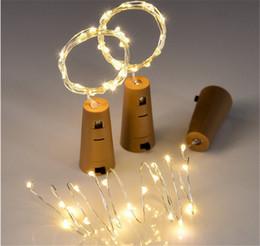 meilleures lumières de nuit pour les enfants Promotion Lampe en liège en forme de bouteille Stopper2M 20LED Bouchon en liège léger bouteille de vin LED Veilleuses pour la fête de Noël Mariage Halloween Décor Meilleur