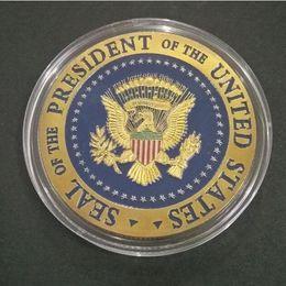 2019 águila de oro americana 2020 Donald Trump Conmemorativa Eagle Coin American 45th President Badge Presidente de los Estados Unidos Monedas de oro Metal Craft Collection Token rebajas águila de oro americana