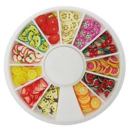 Canada Bricolage roue Nail Art Décorations de fruits Tranches de roue Tiny Fimo 3D en pâte polymère acrylique Nail Art strass Manucure Décoration Offre