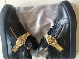 zapatillas de piel de cocodrilo para hombre Rebajas Hot Men Women Luxury Genuine leather Fashion Sneakers cocodrilo cocodrilo doble cremallera lateral Decoración de metal Zapatos casuales planos tamaño 35-47