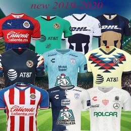 Qualidade tailandesa 2019 2020 Mexico League Club America Tijuana Chivas Necaxa Pachuca Monterrey Santos Laguna Tigres UANL 19 20 camisas de futebol de