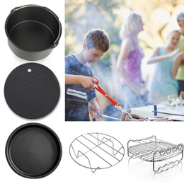 2019 cottura in ghisa 5PCS Outdoor Portable Padellame Doppia Grill Pot Holder