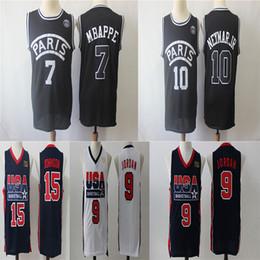 061e5dc01 PSG Paris Jersey 10 NEYMAY JR 7 MBAPPE 1992 Dream Team 1 Earvin 19 Johnson  9 Michael JD Basketball Jerseys 33 Ewing dream team jerseys on sale