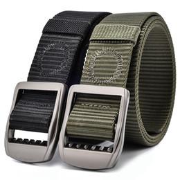2019 ceinture tactique en nylon noir 160cm 180cm blus taille hommes ceintures tactique nylon femmes armée Style métal boucle cinturon jeans taille forte sangle noir promotion ceinture tactique en nylon noir