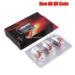 Atomizadores t8 online-100% original TFV12 Tank Coil Head AB Código QR V12-T12 Duodeno 0.12ohm V12-T6 V12-T8 V12-Q4 V12-X4 Atomizador Core Genuine Core
