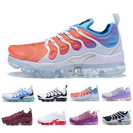 2019 barato tênis para meninas 2019 Nova Chegada Barato TN Plus mulheres Tênis de corrida branco rosa roxo menina mulheres uva esportes ao ar livre formadores tênis sneakers EUR 36-40 barato tênis para meninas barato