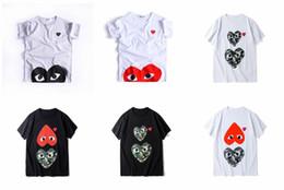 New Japan Herren Designer T-Shirt HOLIDAY Heart Emoji Rotes Herz Kurzarm T-Shirt commes des garcons Männer Frau Baumwolle T-Shirt Sommer von Fabrikanten